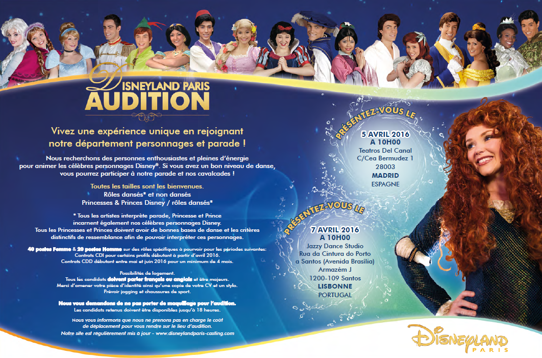 casting disneyland paris