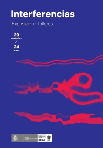 Portada folleto Interferencias - Exposición Talleres