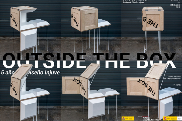 Portada Folleto OUTSIDE THE BOX - 5 AÑOS DE DISEÑO INJUVE
