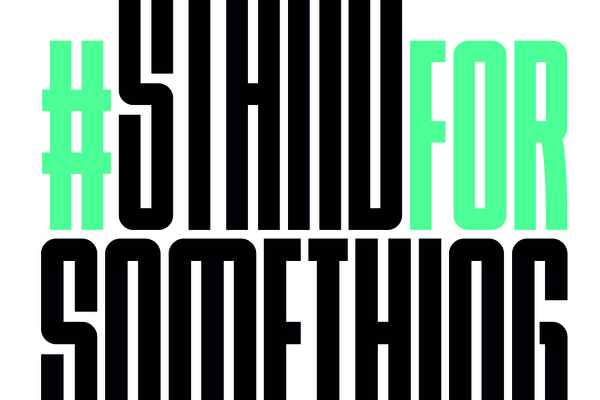 Logo de la campaña stand for something